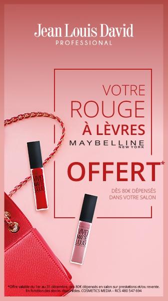 Votre Rouge à Lèvres Maybelline New-York offert dans votre salon Jean Louis David !