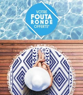 Image Votre offre Fouta Ronde Franck Provost ! Apprêtez-vous à célébrer l'arrivée de l'été avec bonheur !